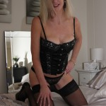 Mature escort in lingerie