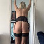 Leggy stockings blondes mature lingerie
